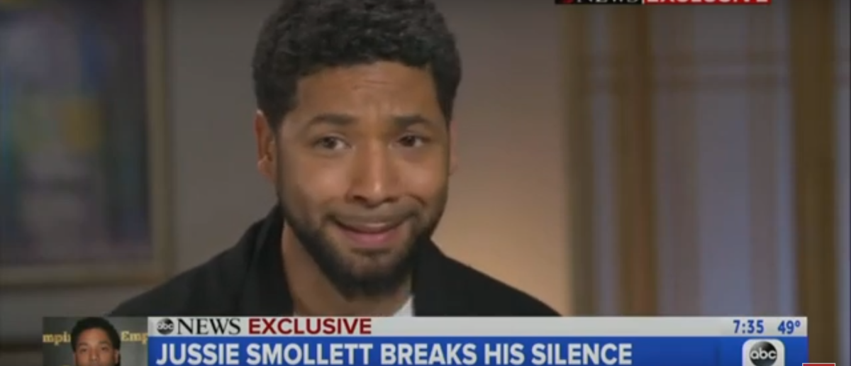 Jussie Smollett disputed the MAGA hat narrative. Screenshot/YouTube/Good Morning America
