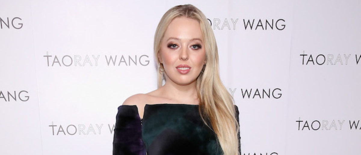 Tiffany Trump poses backstage for Taoray Wang fashion show during New York Fashion Week: The Shows at Gallery II at Spring Studios on February 9, 2019 in New York City. (Photo by Astrid Stawiarz/Getty Images for Taoray Wang)