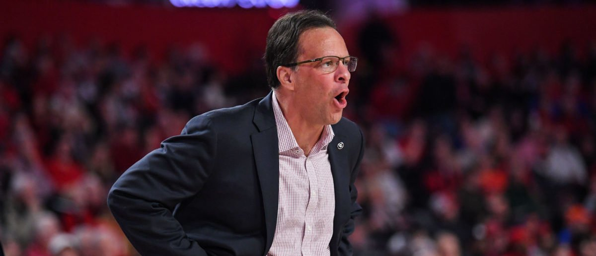 Jan 19, 2019; Athens, GA, USA; Georgia Bulldogs head coach Tom Crean reacts on the bench against the Florida Gators during the first half at Stegeman Coliseum. (Mandatory Credit: Dale Zanine-USA TODAY Sports - via Reuters)