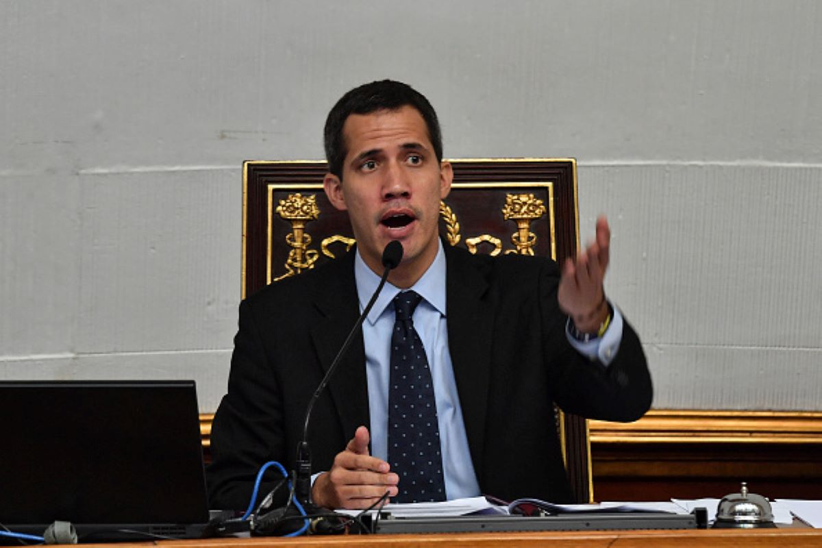 Venezuela's National Assembly head and self-proclaimed 'acting president' Juan Guaido, speaks during a session at the National Assembly in Caracas on January 29, 2019.