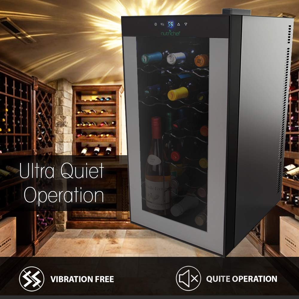 Normally $180, save over $40 on this sleek wine cooler (Photo via Amazon)