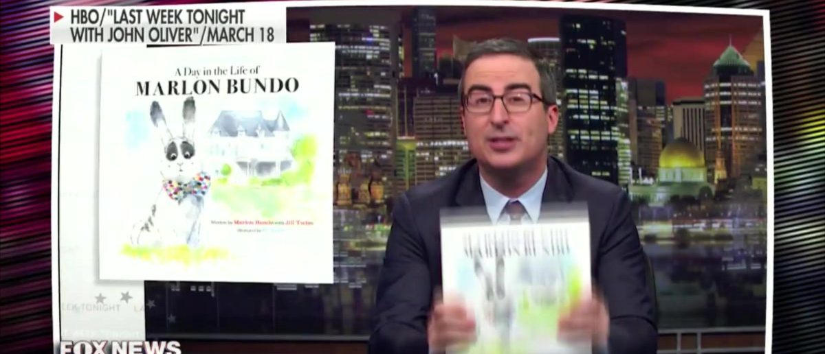 A teacher is getting investigated for reading the John Oliver book about gay bunnies. Screenshot/FOX News Sunday With Chris Wallace/HBO/Last Week Tonight With John Oliver