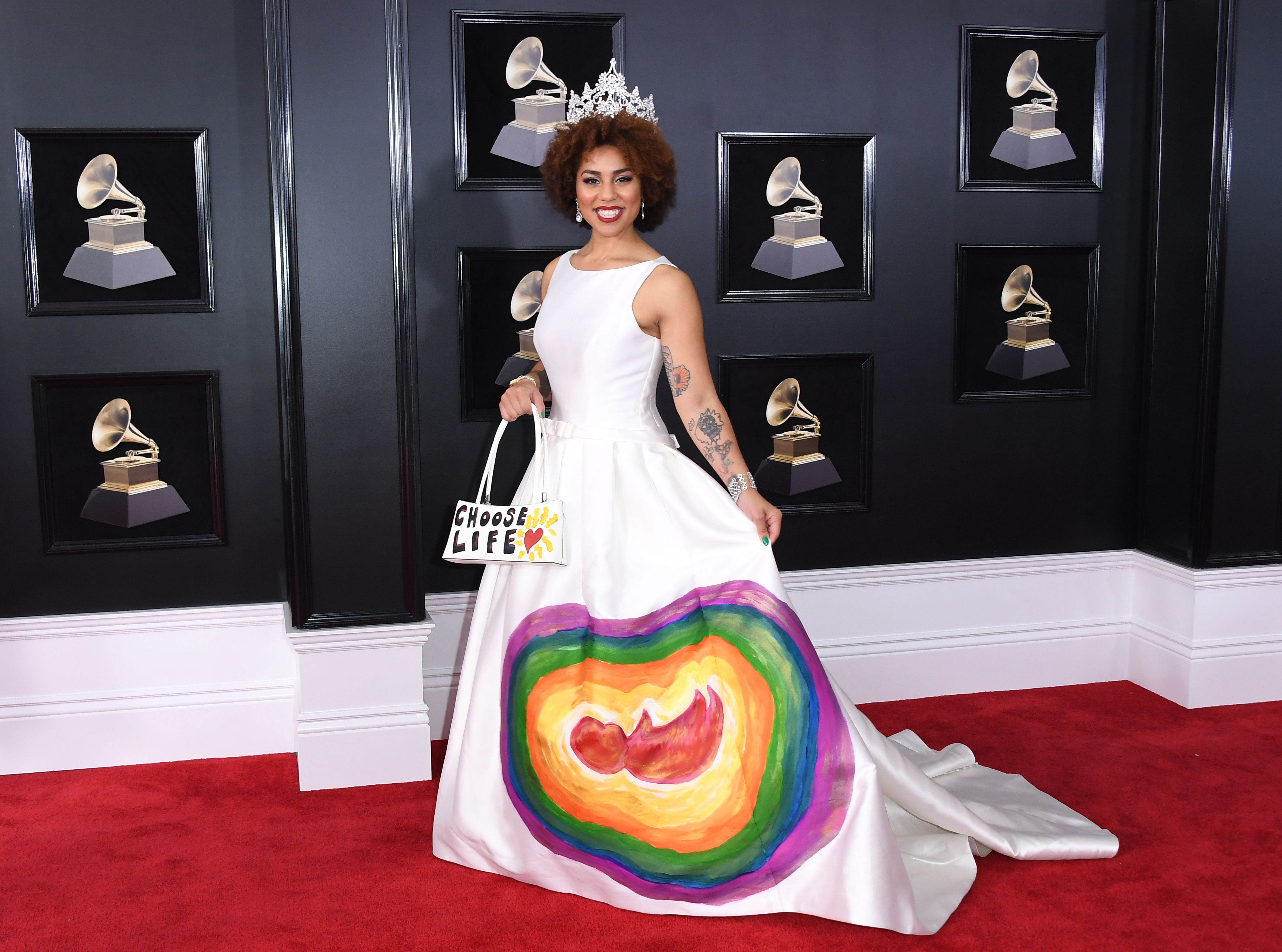 Joy Villa arrives for the 60th Grammy Awards on January 28, 2018, in New York. WEISS / AFPGetty Images