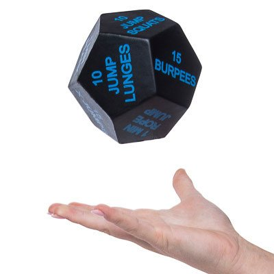 NormallY $24, this exercise dice is 58 percent off (Photo via Amazon)