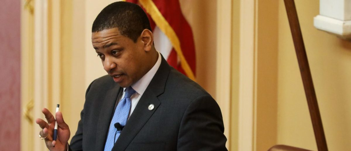 Lieutenant Governor Justin Fairfax, who would take over if Governor Ralph Northam steps down, strongly denied the allegation made by a woman about a sexual encounter they had in a hotel room 15 years ago (LOGAN CYRUS/AFP/Getty Images)