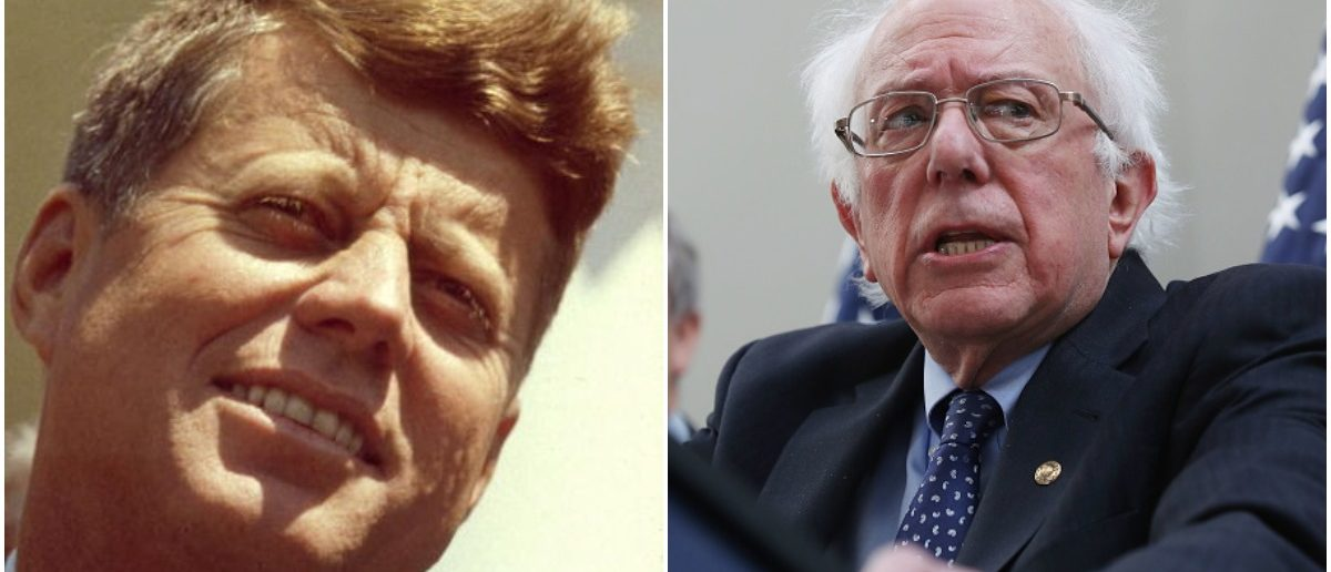 JFK and Bernie (LEFT: Getty Images RIGHT: Mark Wilson/Getty Images)