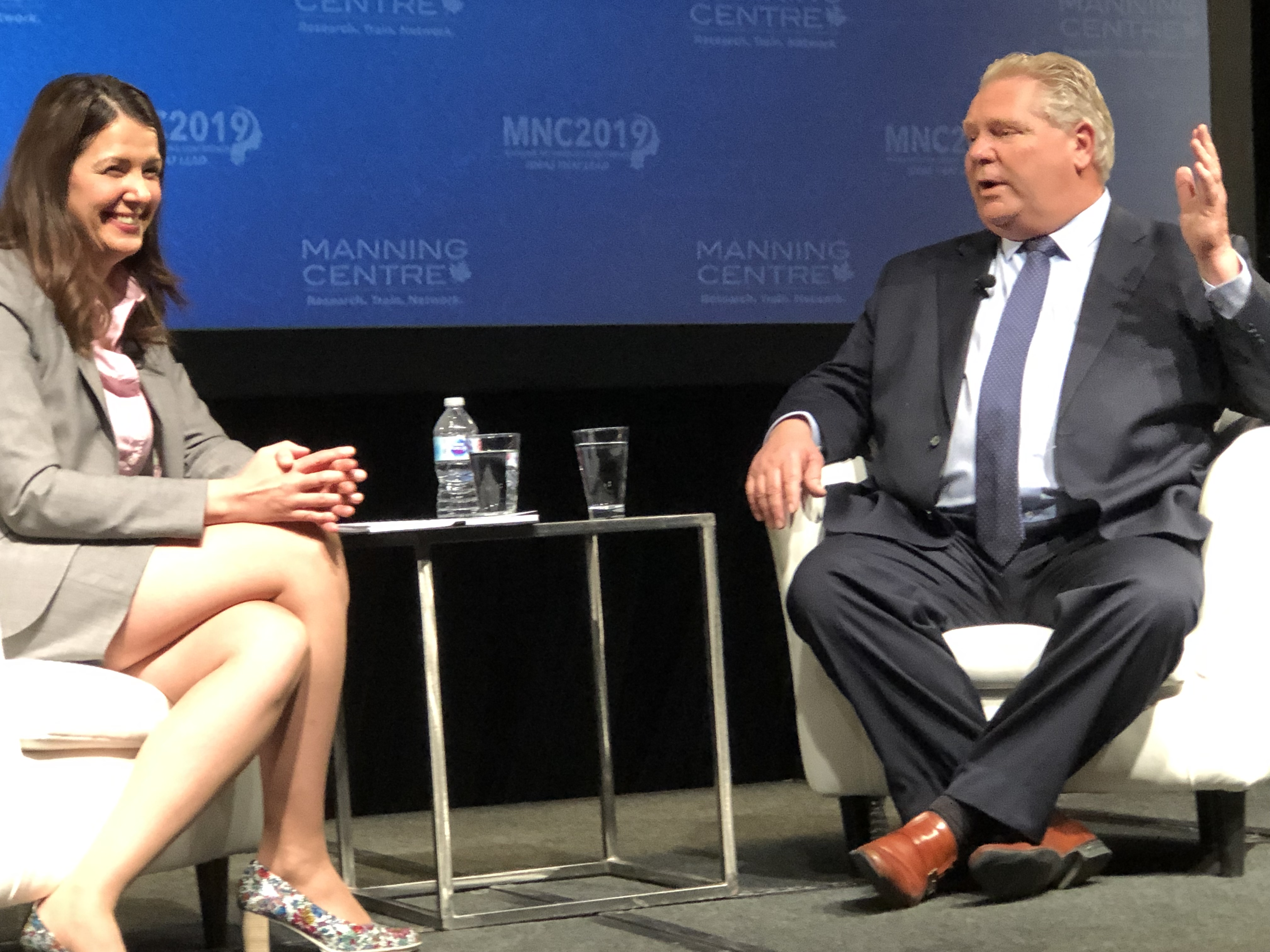 Ontario Premier Doug Ford is interviewed by Calgary broadcaster Danielle Smith at the 2019 Manning Networking Conference, held in Ottawa, Canada, March 23, 2019. Daily Caller photo by Janet Krayden