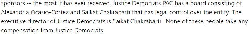 Justice Democrats' board of directors on March 23, 2018. (Screenshot/Wayback Machine)