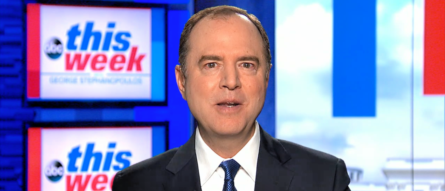 Democratic U.S. Rep. Adam Schiff, the chairman of the House Intelligence Committee, speaks to ABC News on March 28, 2019. (Screenshot/ABC News)