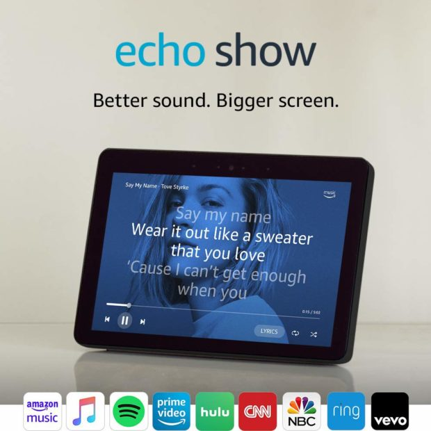 See recipes, make skype calls, and more with Amazon's new and improved Echo Show (Photo via Amazon)
