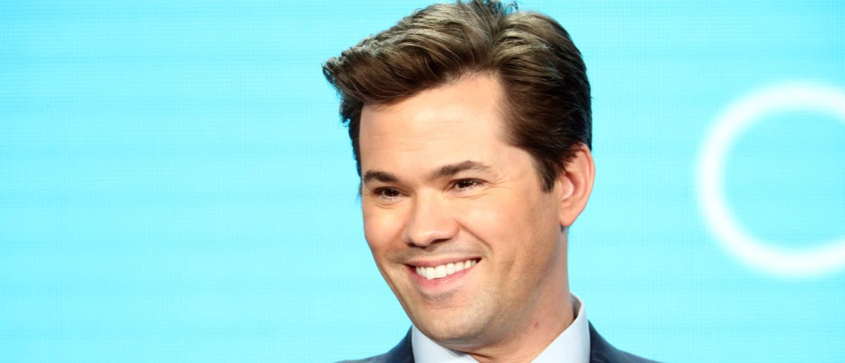 Andrew Rannells of the television show 'Black Monday' speaks during the Showtime segment of the 2019 Winter Television Critics Association Press Tour at The Langham Huntington, Pasadena on January 31, 2019 in Pasadena, California. (Photo by Frederick M. Brown/Getty Images)