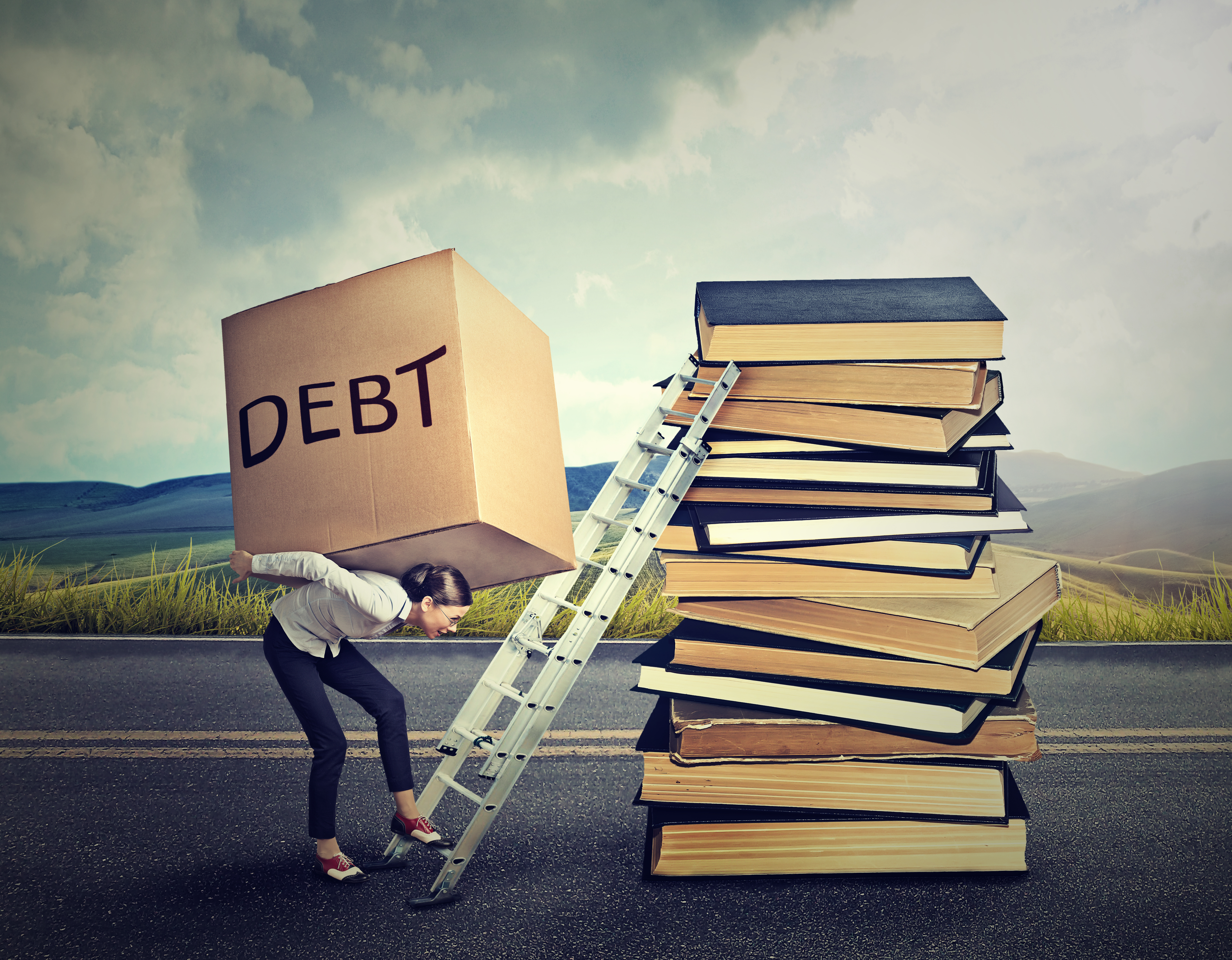 Pictured is the concept of student debt. SHUTTERSTOCK/ pathdoc