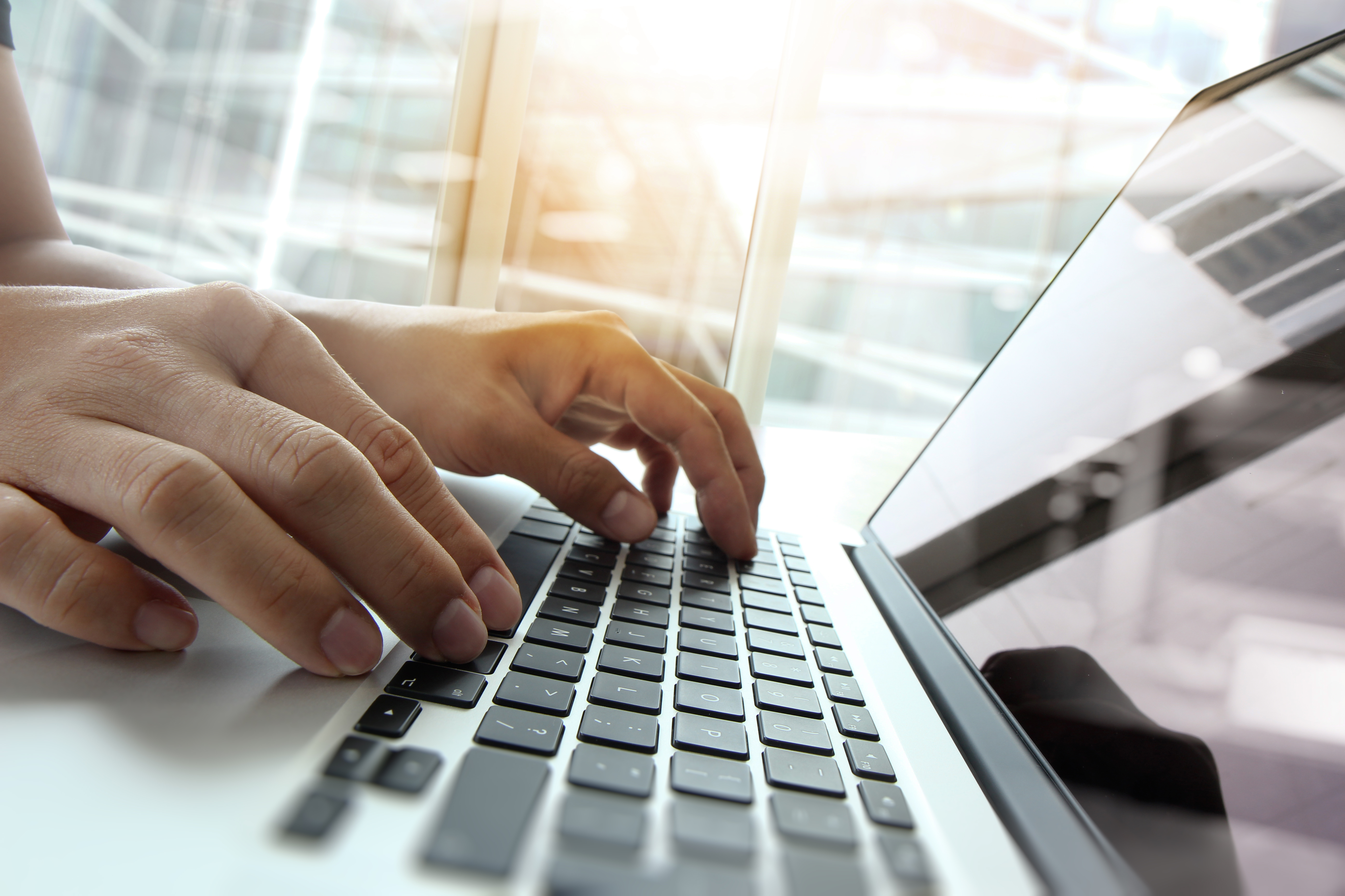Pictured is a person using a computer. SHUTTERSTOCK/ ESB Professional