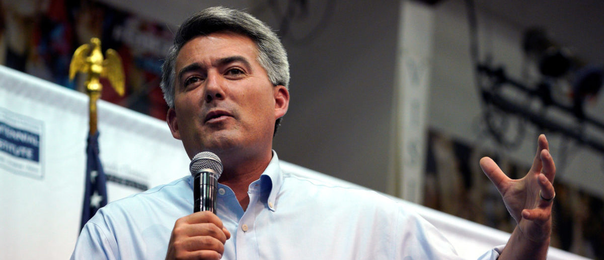 U.S. Senator Cory Gardner speaks at a town hall meeting in Lakewood, Colorado, U.S., August 15, 2017. REUTERS/Rick Wilking