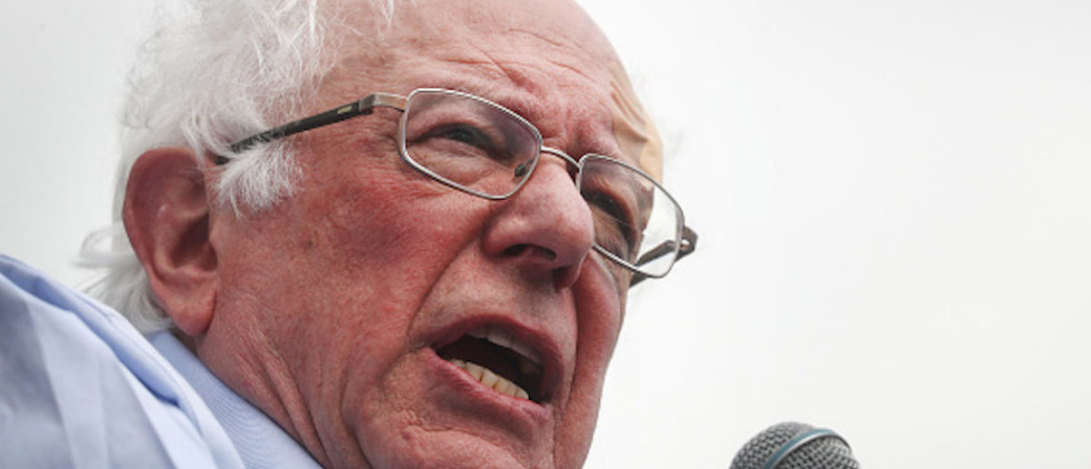 LOS ANGELES, CALIFORNIA - MARCH 23: Democratic presidential candidate U.S. Sen. Bernie Sanders (I-VT) speaks at a campaign rally in Grand Park on March 23, 2019 in Los Angeles, California. Sanders, who is so far the top Democratic candidate in the race, is making the rounds in California which is considered a crucial 'first five' primary state by the Sanders campaign. California will hold on early primary on March 3, 2020. (Photo by Mario Tama/Getty Images)