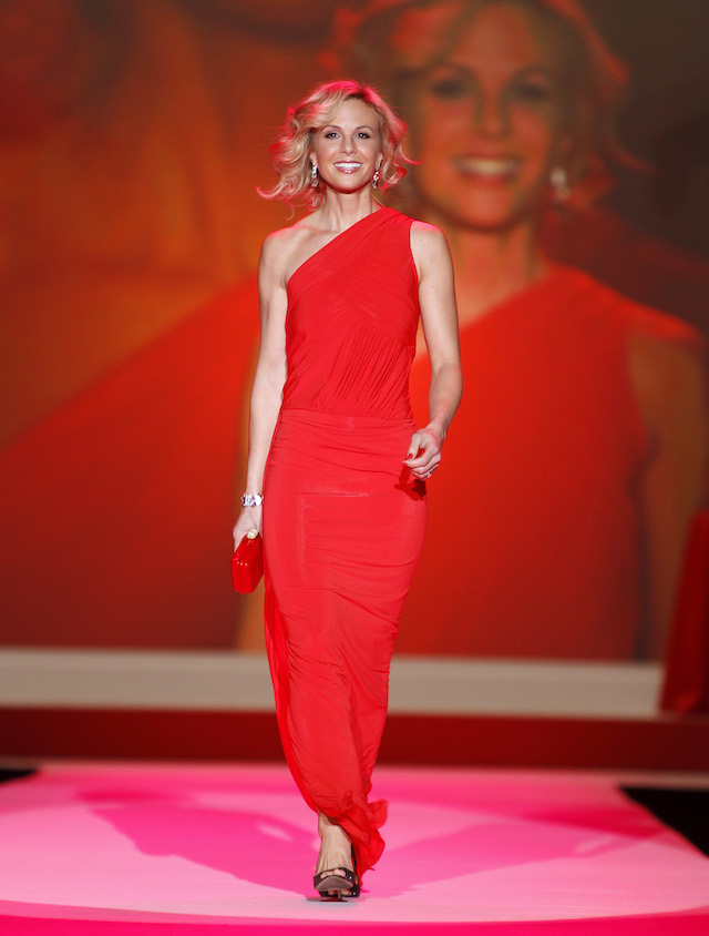 Elisabeth Hasselbeck walks the runway during the Heart Truth's Red Dress Fall 2010 show during New York Fashion Week February 11, 2010. REUTERS/Lucas Jackson