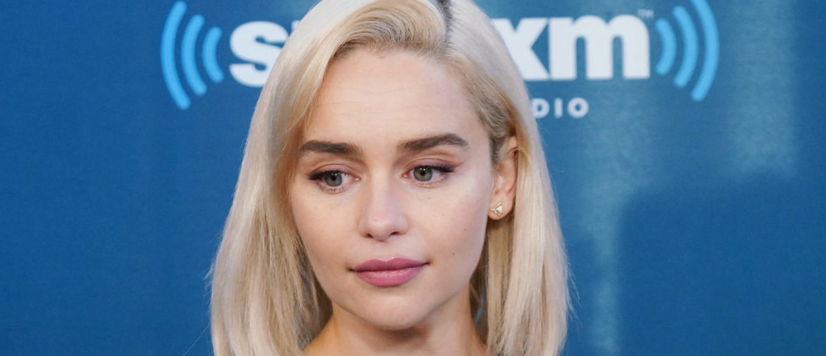 Emilia Clarke takes part in SiriusXM's Town Hall with the cast of Solo: A Star Wars Story hosted by SiriusXM's Dalton Ross at SiriusXM Studios on May 21, 2018 in New York City. (Photo by Cindy Ord/Getty Images for SiriusXM)