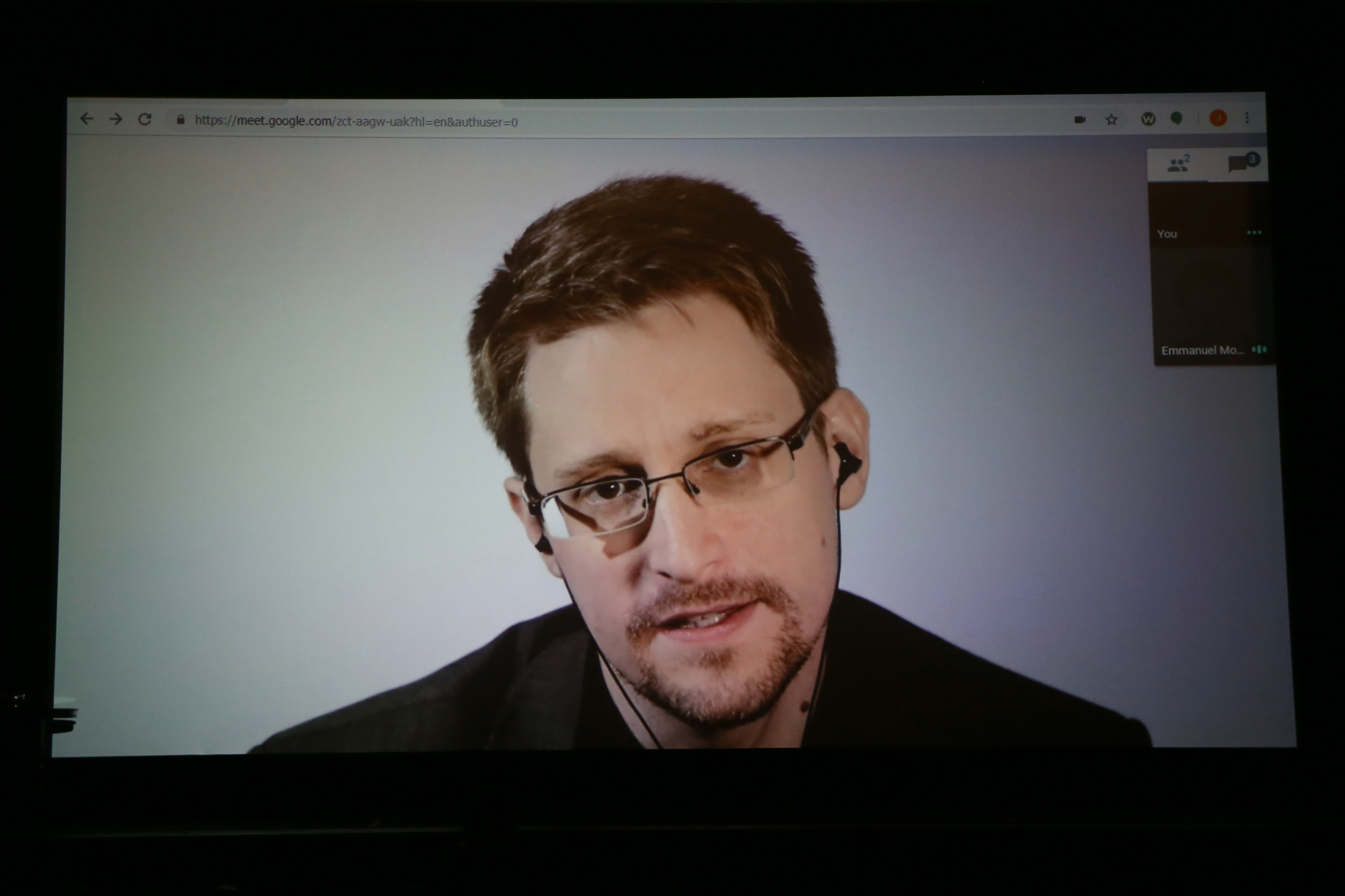 SAN FRANCISCO, CA - OCTOBER 14: Edward Snowden speaks remotely WIRED25 Festival: WIRED Celebrates 25th Anniversary ? Day 2 on October 14, 2018 in San Francisco, California. (Phillip Faraone/Getty Images for WIRED25 )