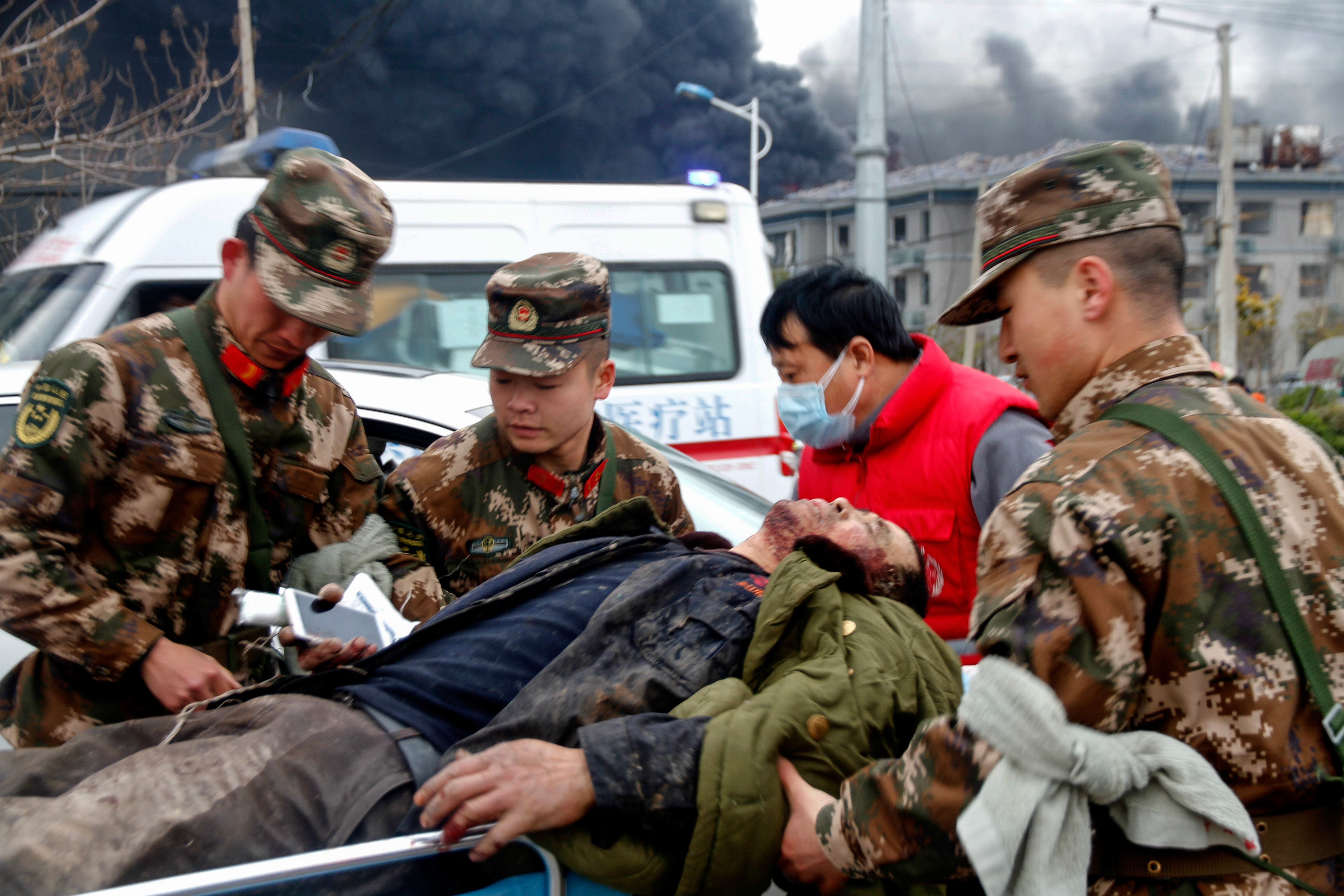 China Chemical Plant Explosion: Massive Blast, Several Casualties Seen In Videos, Photos