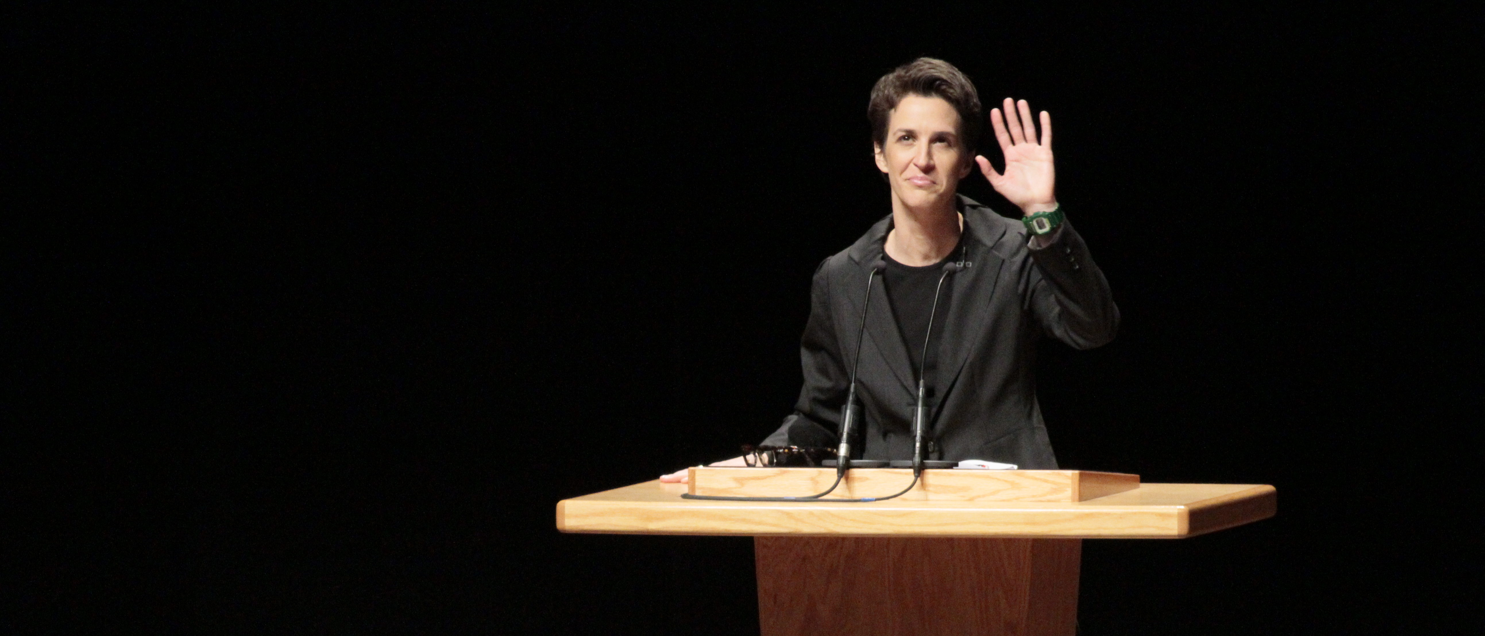MUNCIE, IN - DECEMBER 02: Rachel Maddow , on December 2, 2011 in Muncie, Indiana. (Photo by Ron Hoskins/Getty Images)