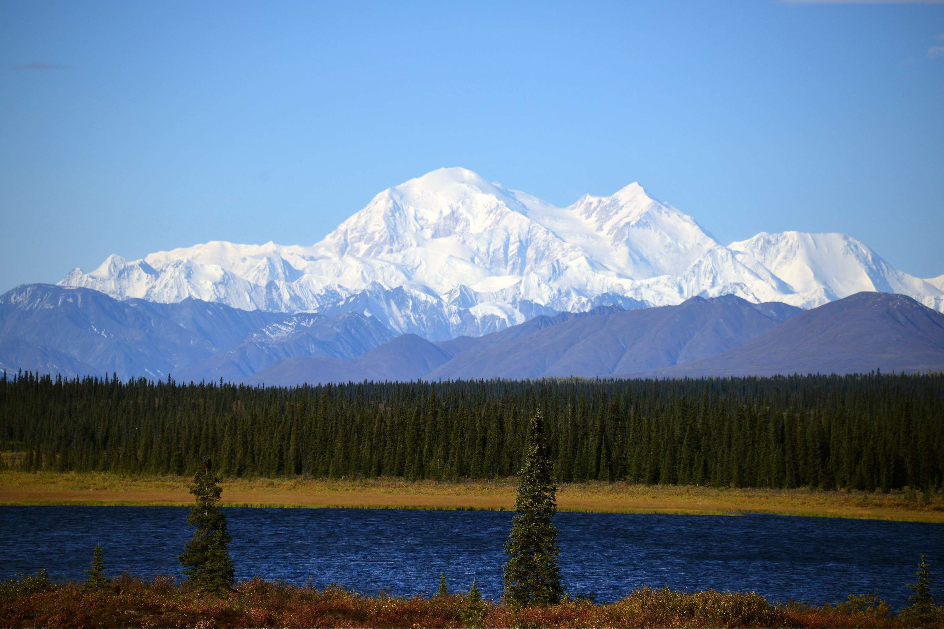 A view of Denali, formerly known as Mt. McKinley, on September 1, 2015 in Denali National Park, Alaska. (Photo by Lance King/Getty Images)