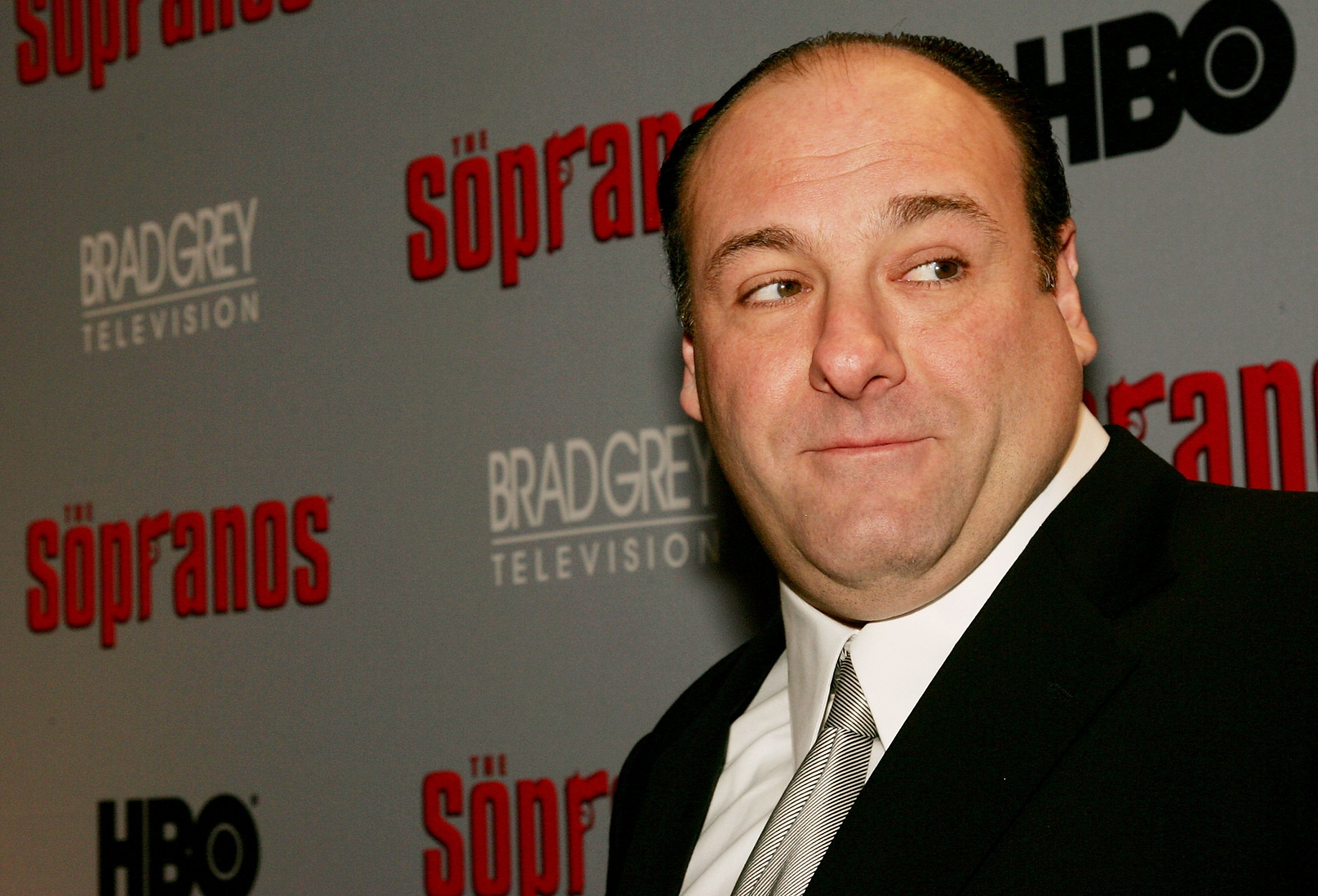 NEW YORK- MARCH 07 Actor James Gandolfini attends the sixth season premiere of the HBO series
