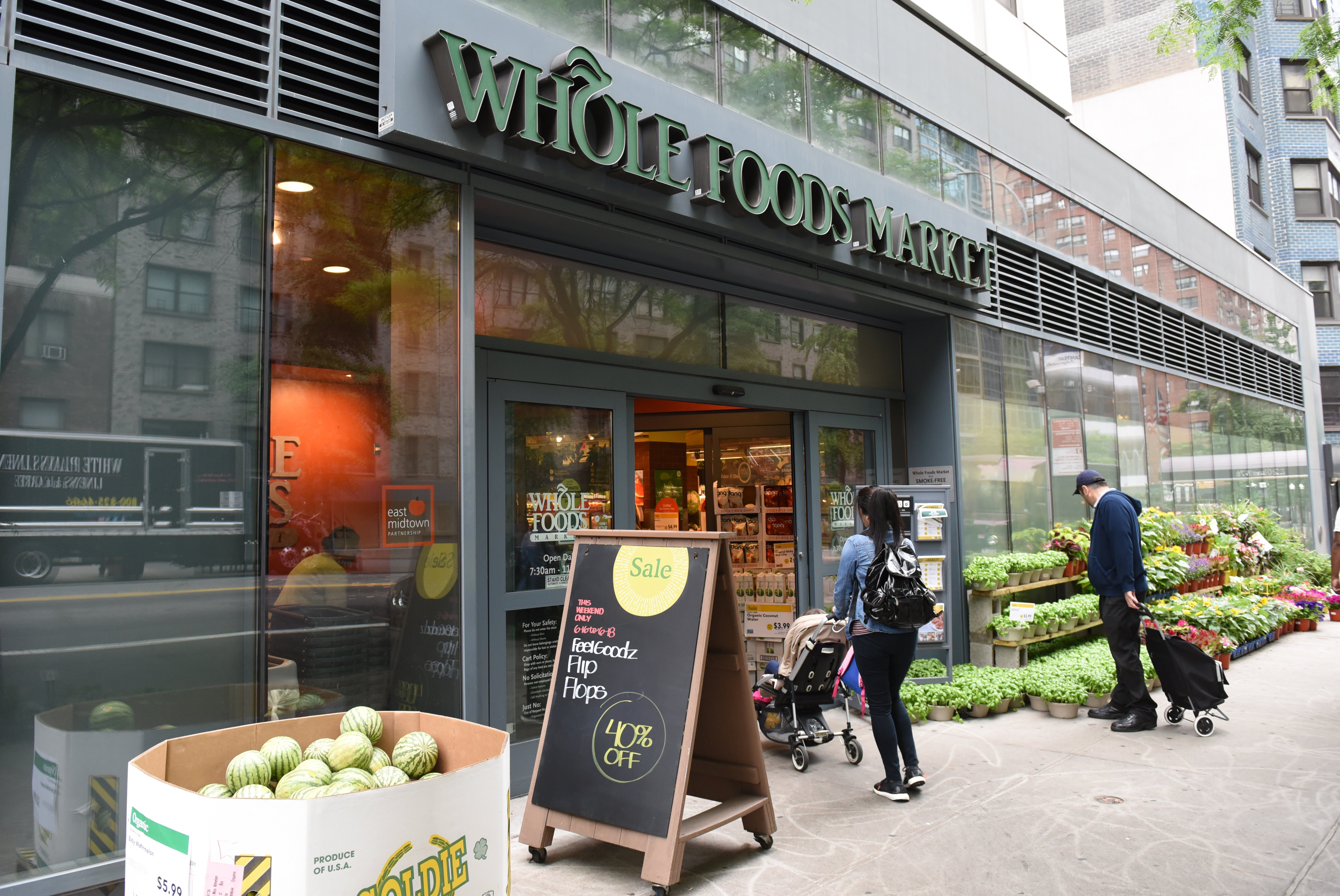 The Whole Foods Market in Midtown New York is seen on June 16, 2017. (TIMOTHY A. CLARY/AFP/Getty Images)