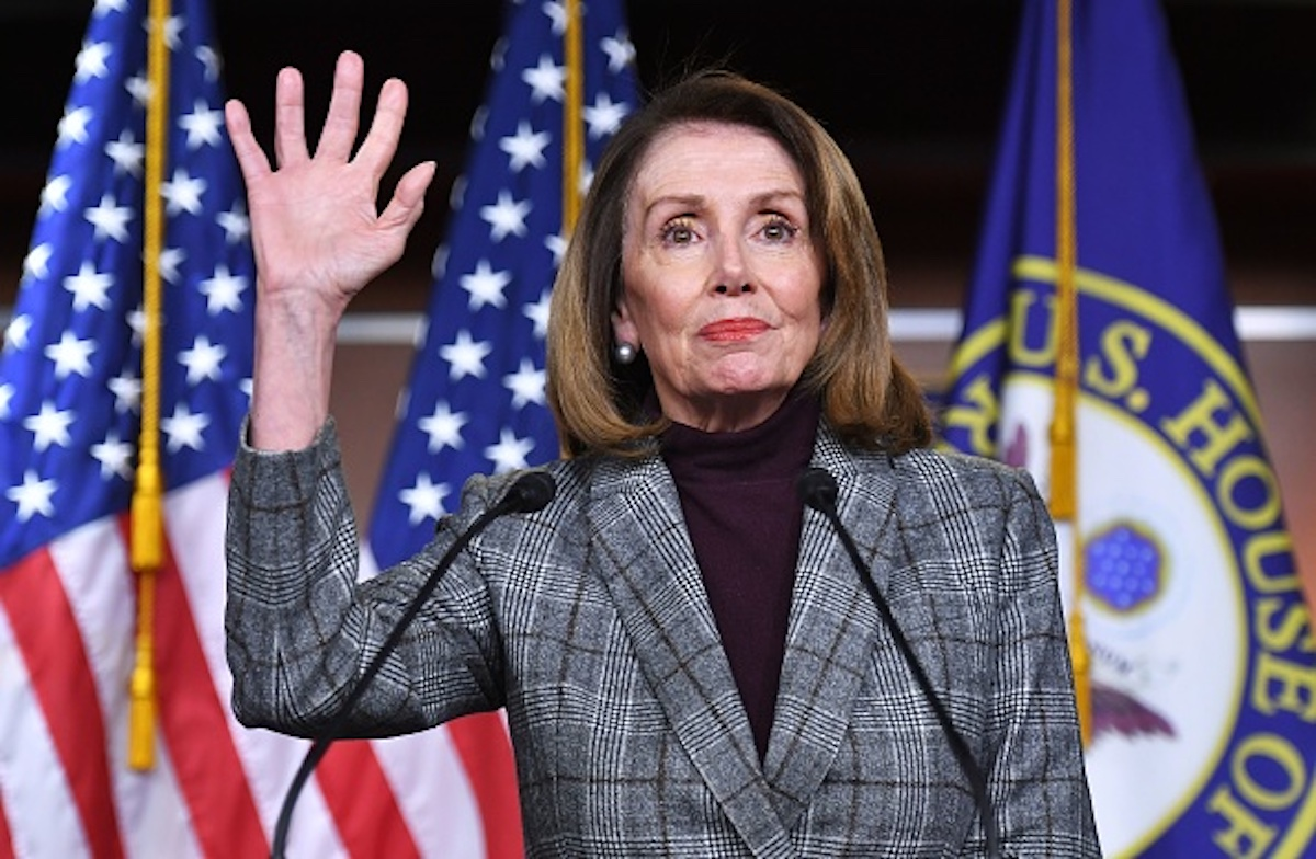 House Speaker Nancy Pelosi (D-CA), speaks during a weekly press conference at the US Capitol in Washington, DC on February 28, 2019. (Photo by MANDEL NGAN / AFP) (Photo credit should read MANDEL NGAN/AFP/Getty Images)