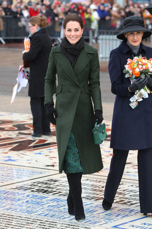 Catherine, Duchess of Cambridge smiles during a walkabout on March 06, 2019 in Blackpool, England. The Duke and Duchess of Cambridge were invited by Blackpool council to visit a street in Blackpool that demonstrates the housing problems faced in that town. (Photo by Chris Jackson/Getty Images)