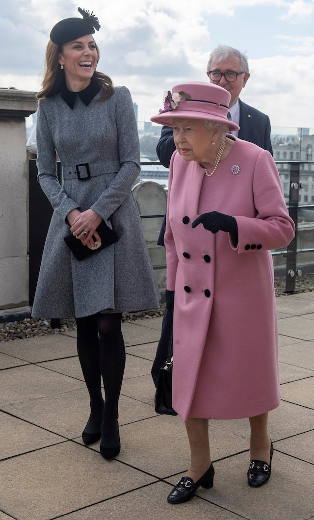 Kate Middleton Wows In Grey Belted Dress And Hat Combo At King S College London The Daily Caller
