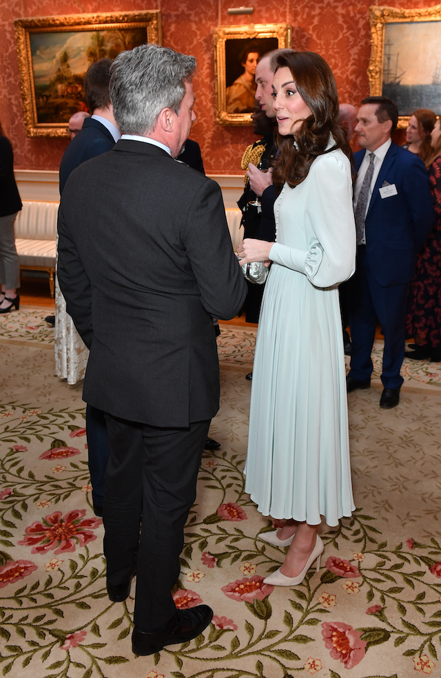 Catherine, Duchess of Cambridge attends a reception to mark the fiftieth anniversary of the investiture of the Prince of Wales at Buckingham Palace on March 5, 2019 in London, England. (Photo by Dominic Lipinski - WPA Pool/Getty Images)