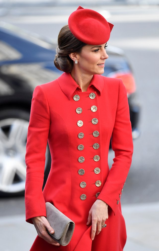 Catherine, Duchess of Cambridge arrives for the Commonwealth Service at Westminster Abbey, on Commonwealth Day, in London, Britain March 11, 2019. REUTERS/Toby Melville