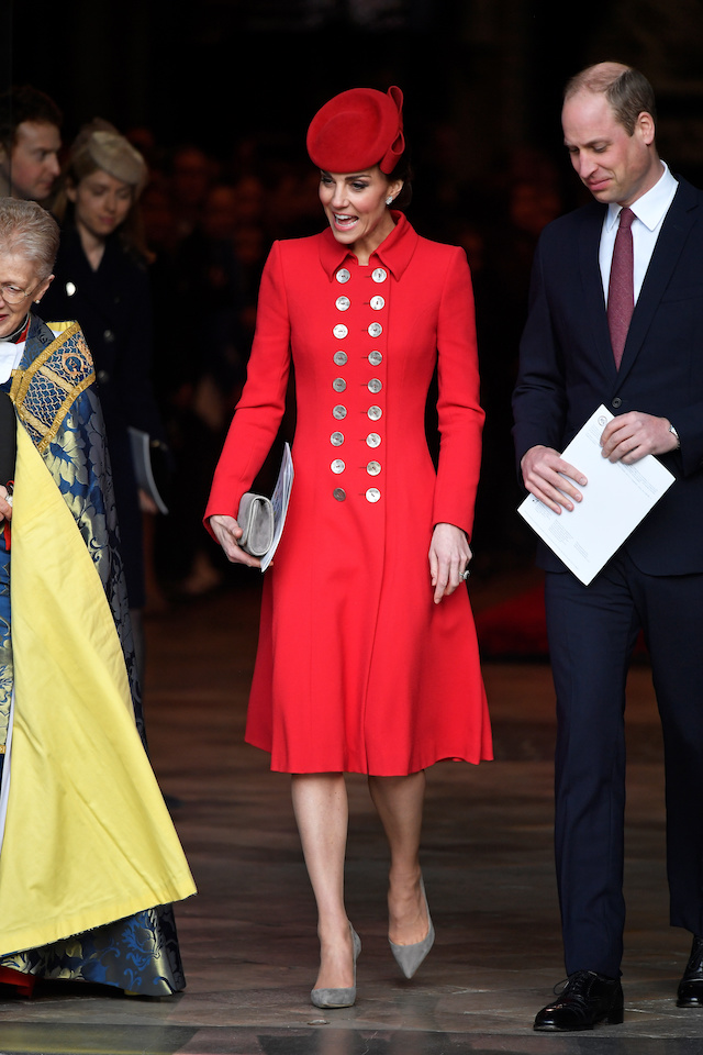 Britain's Prince William and Catherine, Duchess of Cambridge leave after the Commonwealth Service at Westminster Abbey, on Commonwealth Day, in London, Britain March 11, 2019. REUTERS/Toby Melville