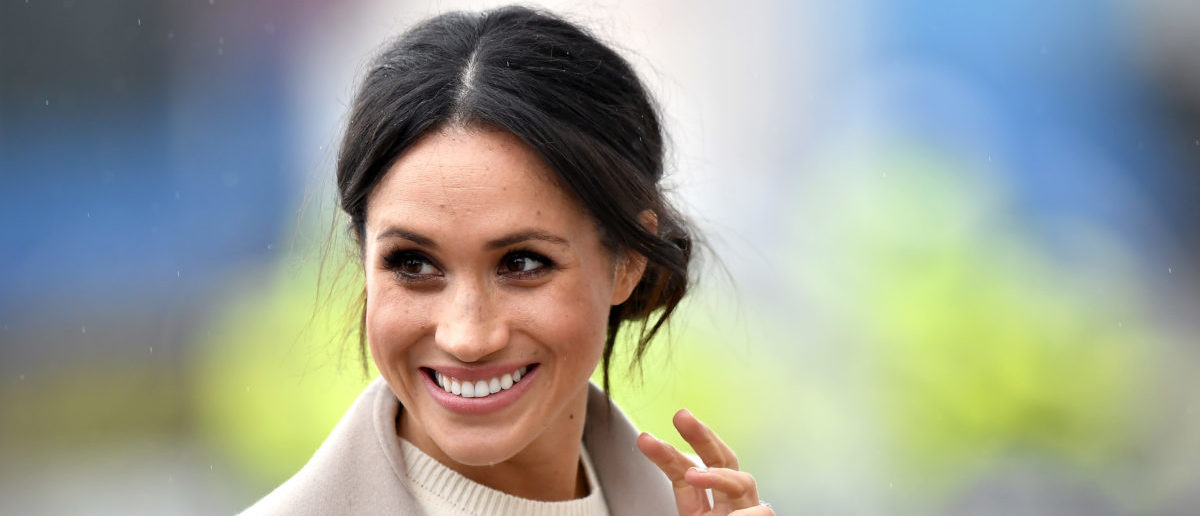 Meghan Markle is seen ahead of her visit with Prince Harry to the iconic Titanic Belfast during their trip to Northern Ireland on March 23, 2018 in Belfast, Northern Ireland, United Kingdom. (Photo by Charles McQuillan/Getty Images)