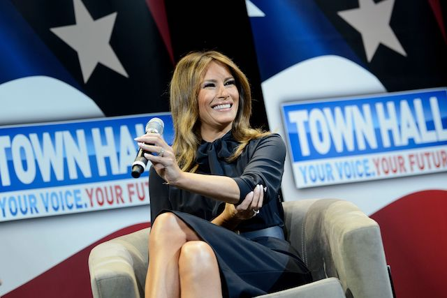 US First Lady Melania Trump smiles during a town hall event about opioid abuse on March 5, 2019 in Las Vegas, Nevada. (Photo credit:BRENDAN SMIALOWSKI/AFP/Getty Images)