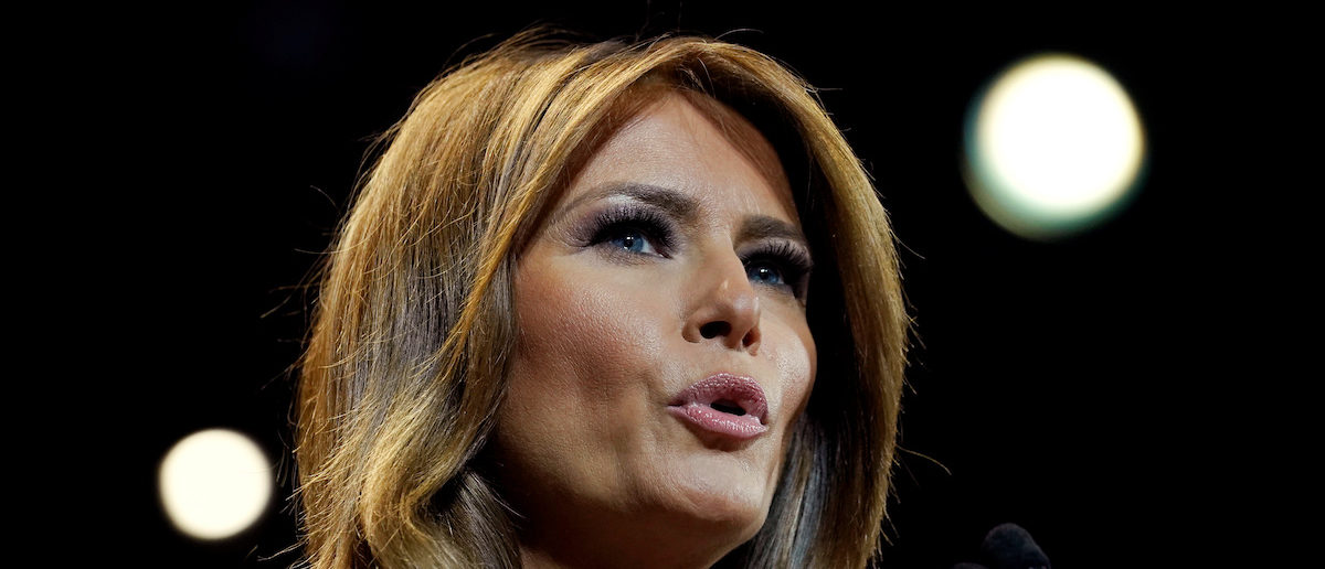 """U.S. first lady Melania Trump speaks at a town hall on opioid abuse while on a three-state tour promoting her """"Be Best"""" initiative in Las Vegas, Nevada, U.S., March 5, 2019. REUTERS/Kevin Lamarque"""