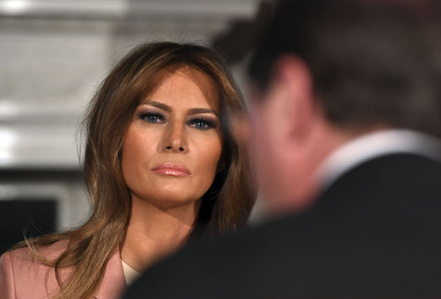 US First Lady Melania Trump hosts an Interagency meeting to discuss youth programs throughout each of the member agencies at the White House in Washington, DC, on March 18, 2019. (Photo credit:JIM WATSON/AFP/Getty Images)
