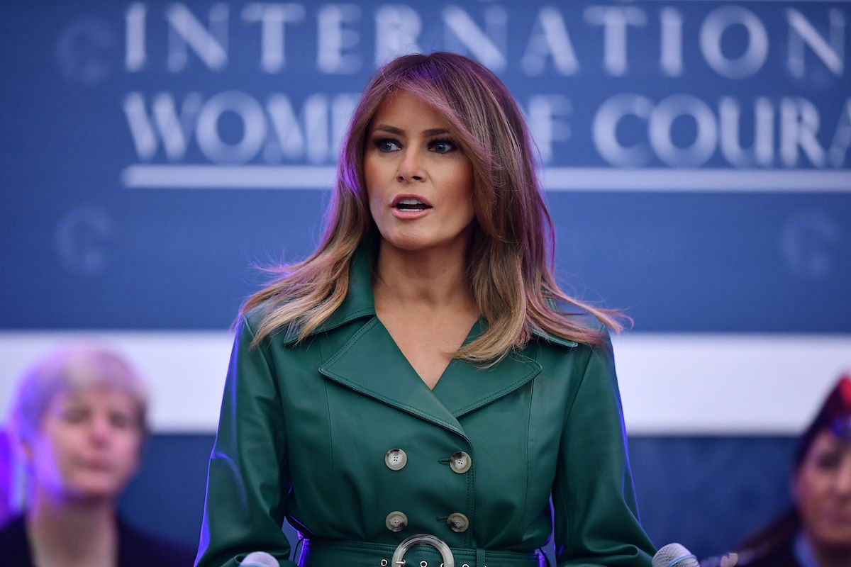 US First Lady Melania Trump speaks during the 2019 International Women of Courage awards ceremony at the US State Department in Washington, DC on March 7, 2019. (Photo credit: MANDEL NGAN/AFP/Getty Images)