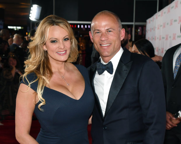 Adult film actress Stormy Daniels and attorney Michael Avenatti attend the 2019 Adult Video News Awards at The Joint inside the Hard Rock Hotel and Casino in Las Vegas, Nevada on January 26, 2019. (Ethan Miller/Getty Images)