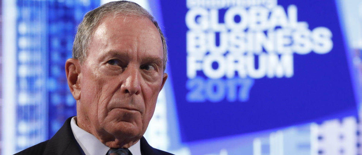 Former New York City Mayor and founder of Bloomberg L.P. Michael Bloomberg, listens at The Bloomberg Global Business Forum in New York, U.S., Sep. 20, 2017. REUTERS/Brendan McDermid