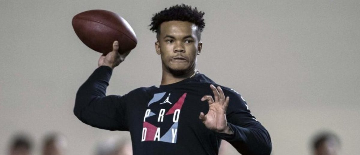 Mar 13, 2019; Normand, OK, USA; Oklahoma quarterback Kyler Murray participates in positional workouts during pro day at the Everest Indoor Training Center at the University of Oklahoma. (Mandatory Credit: Jerome Miron-USA TODAY Sports - via Reuters)
