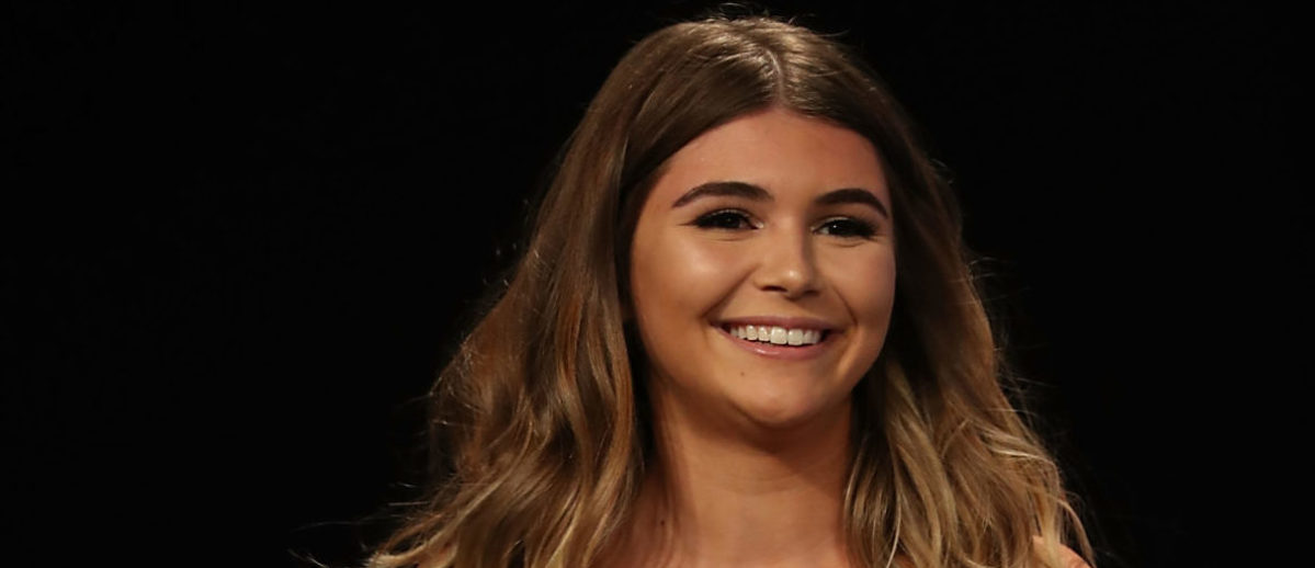 Olivia Jade speaks onstage during the 'Where my Girls At' panel at the 9th Annual VidCon at Anaheim Convention Center on June 20, 2018 in Anaheim, California. (Photo by Joe Scarnici/Getty Images)