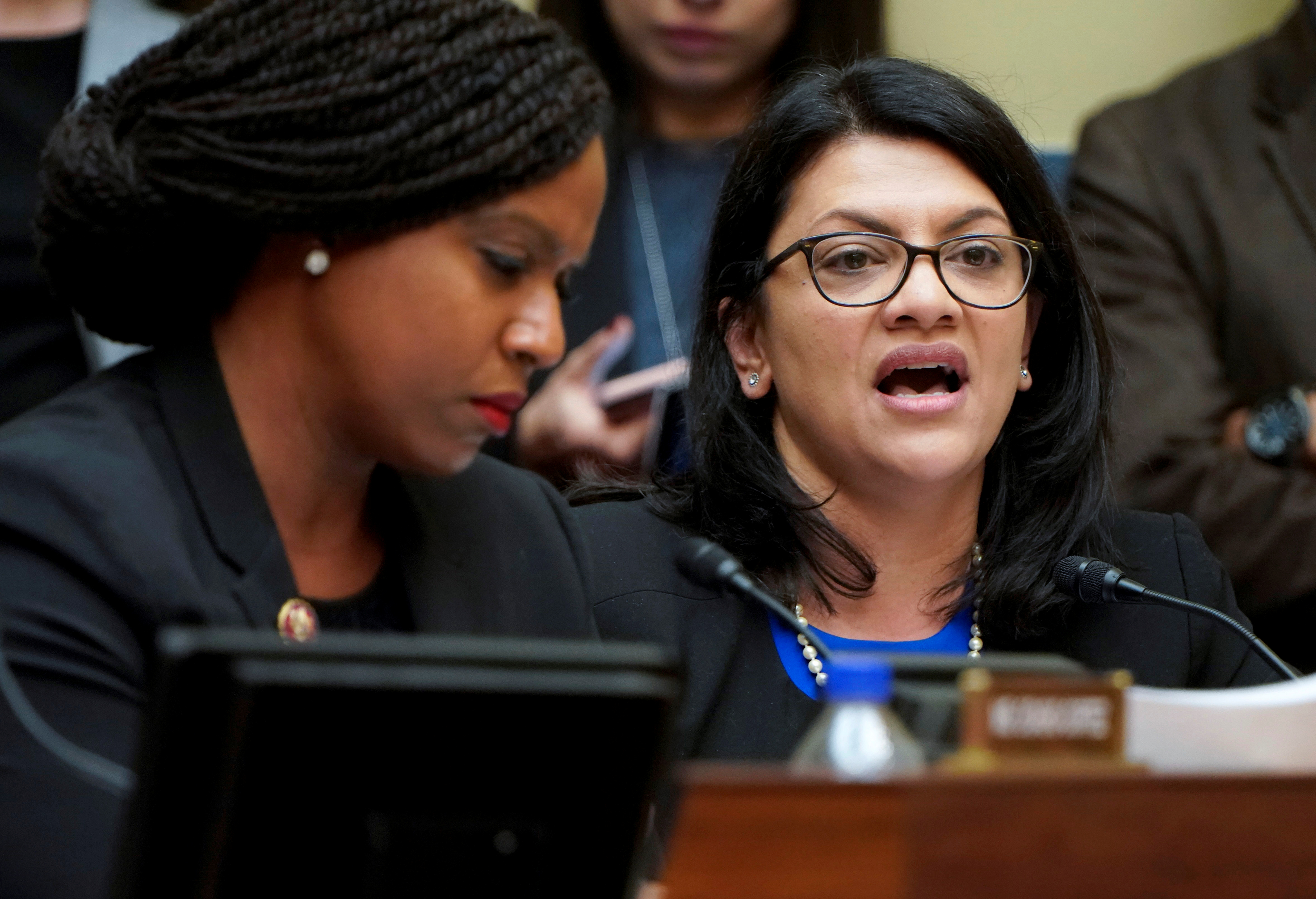 U.S. Rep. Rashida Tlaib questions Cohen during House Oversight hearing on Capitol Hill in Washington