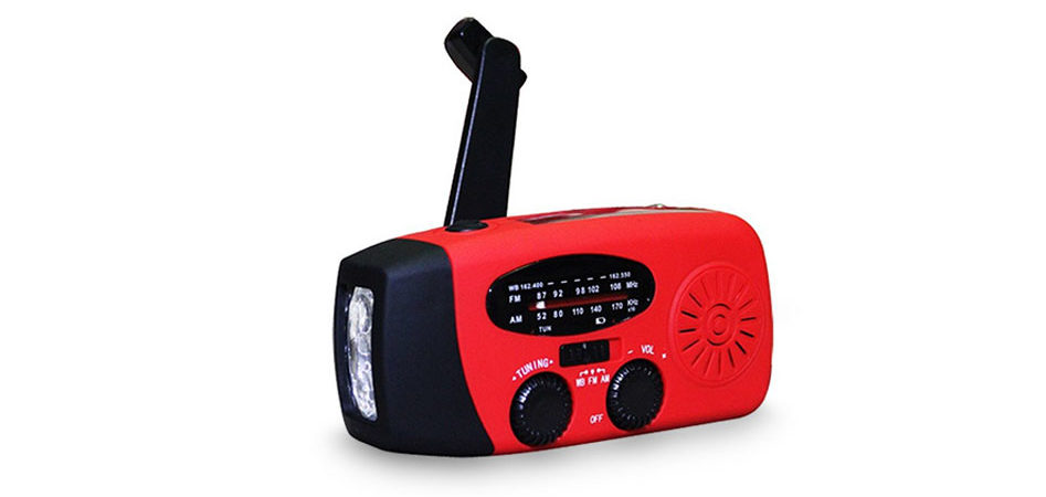 This handy tool packs a multi-band radio with an LED flashlight and a battery to USB charge your devices for one low price