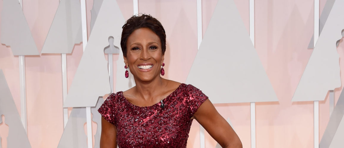 TV personality Robin Roberts attends the 87th Annual Academy Awards at Hollywood & Highland Center on February 22, 2015 in Hollywood, California. (Photo by Jason Merritt/Getty Images)