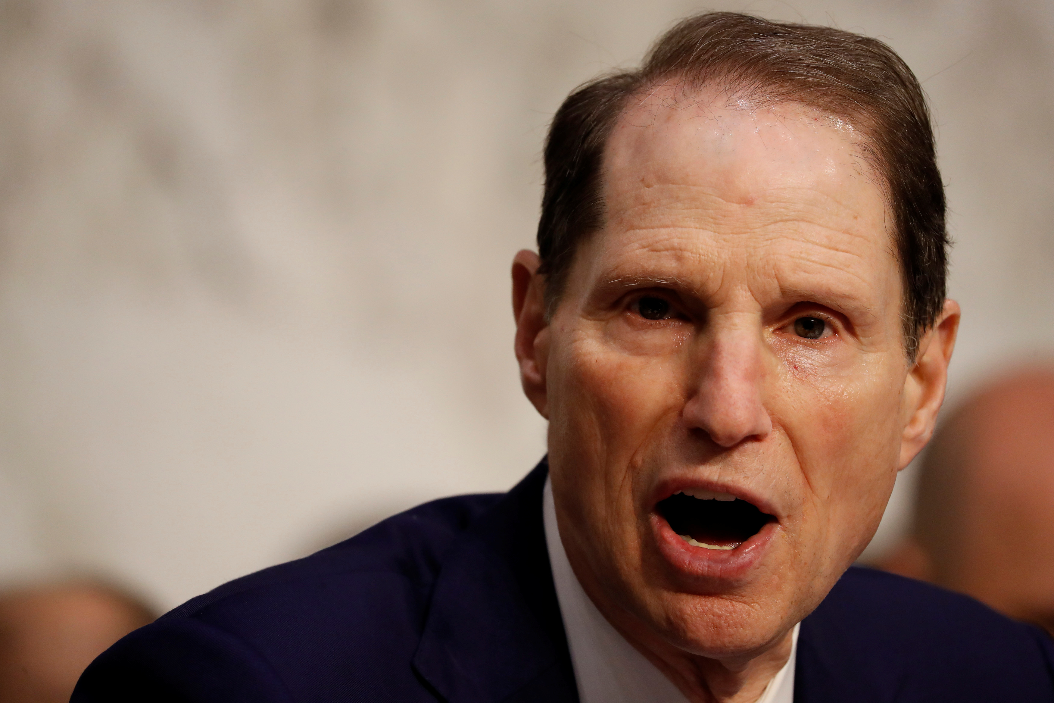 "Sen. Ron Wyden (D-OR) speaks during a markup on the ""Tax Cuts and Jobs Act"" on Capitol Hill in Washington, U.S., November 15, 2017. REUTERS/Aaron P. Bernstein"