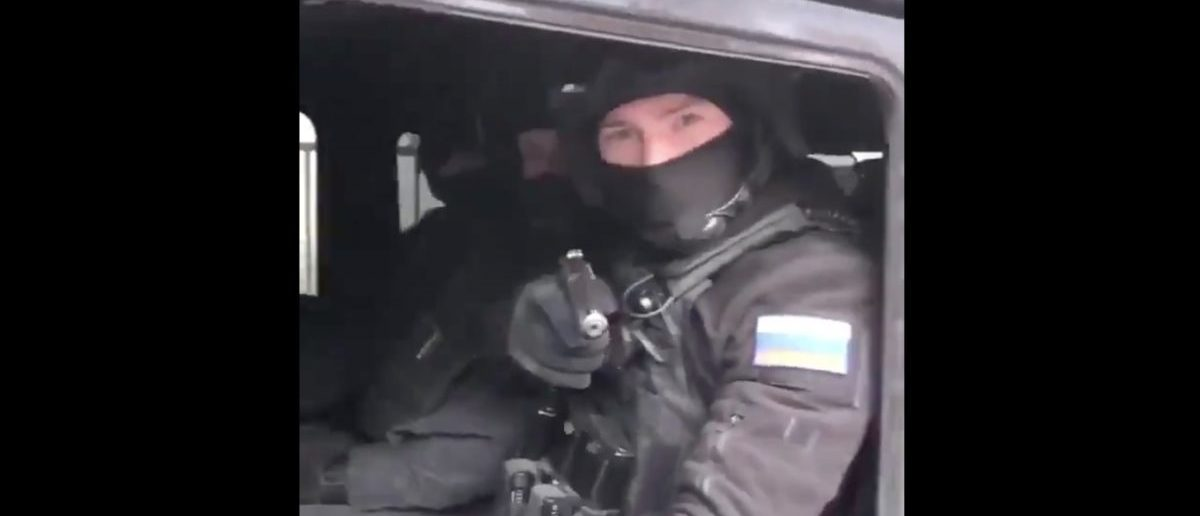 Young Man Confronts Vehicle Full Of Russian Soldiers During