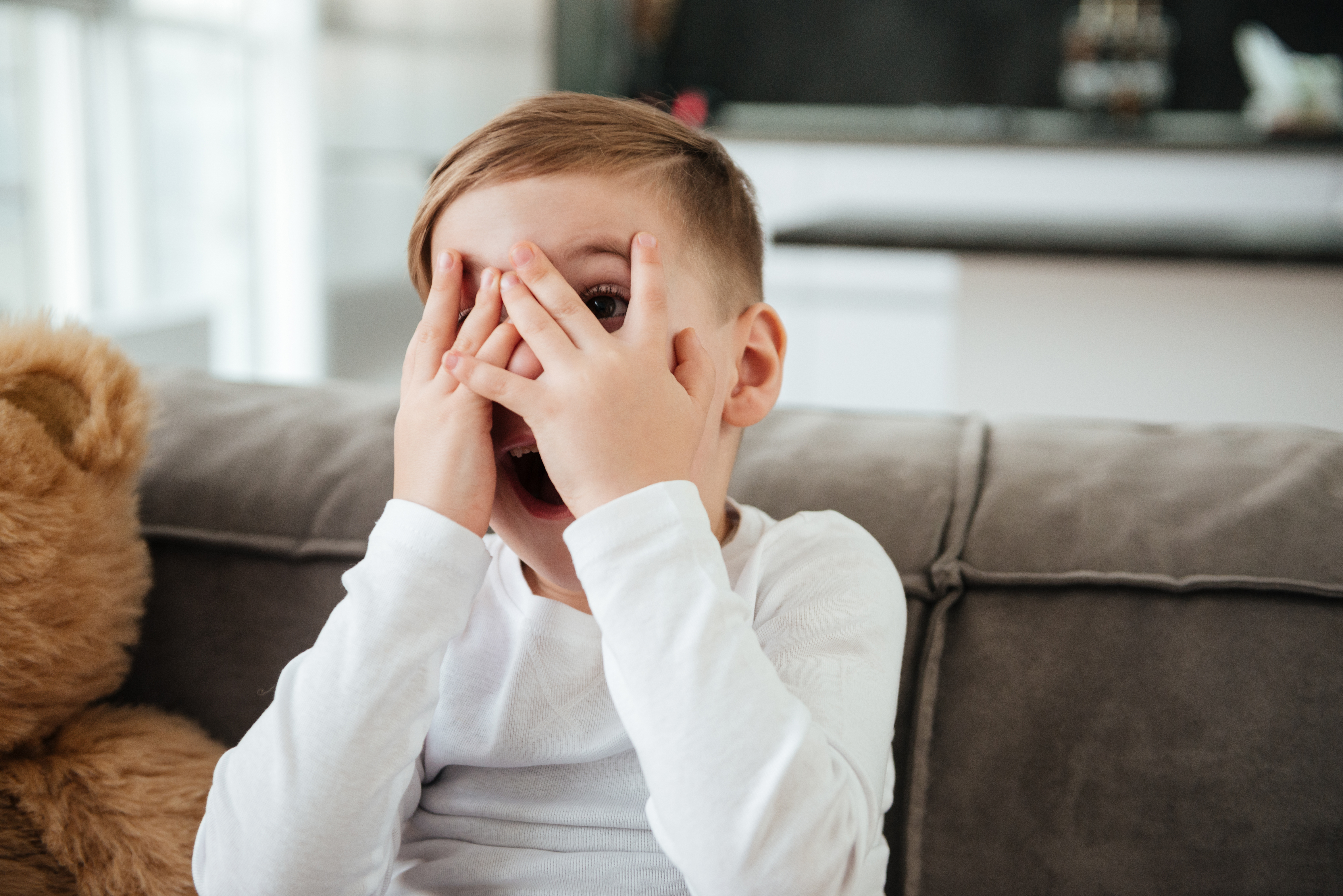 Pictured is a scared child. SHUTTERSTOCK/ Dean Drobot