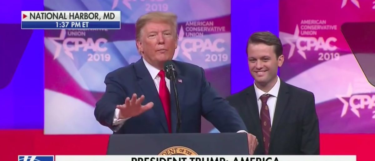 Trump Invites Hayden Williams to CPAC stage (Fox News Screenshot: March 2, 2019)