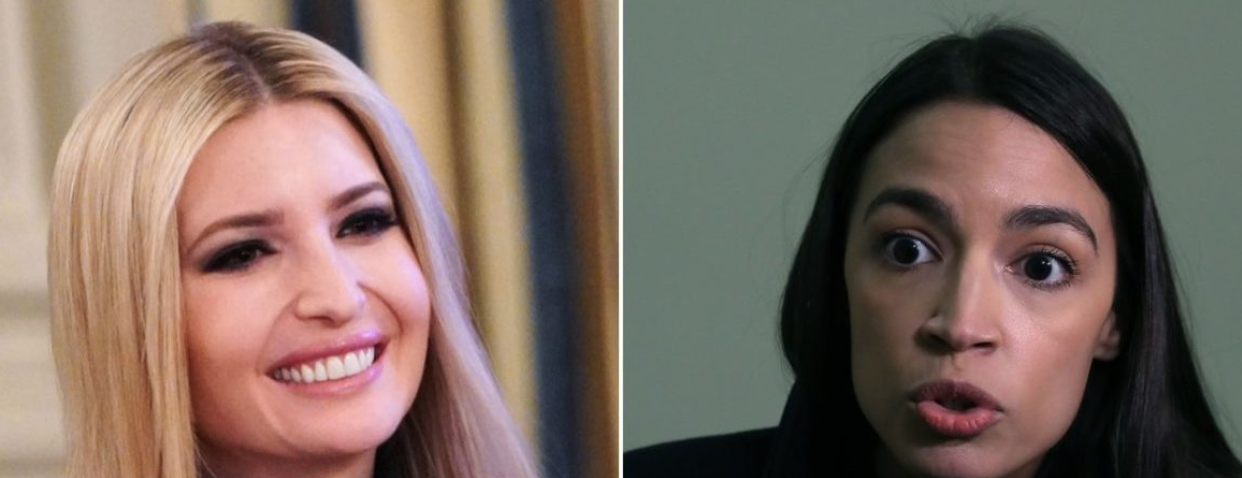 Left: Ivanka Trump (Getty Images), Right: Alexandria Ocasio-Cortez (Getty Images)